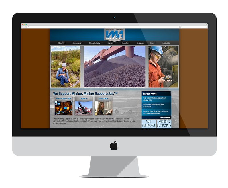 Iron Mining Association: Minnesota web design and development - mining