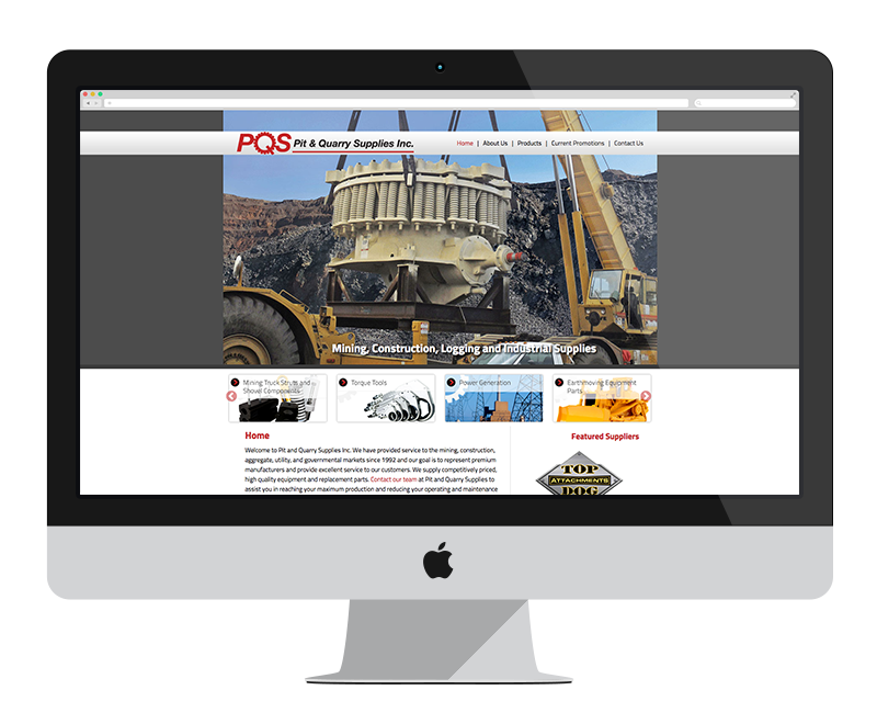 Pit & Quarry Supplies: Minnesota web design and development - mining