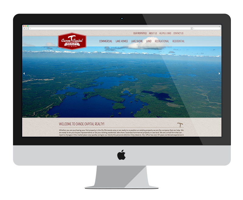 Canoe Capital Realty: Minnesota web design and development - professional services
