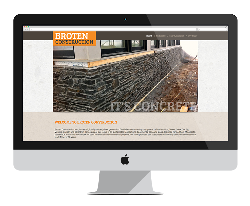 Broten Construction: Minnesota web design and development - construction