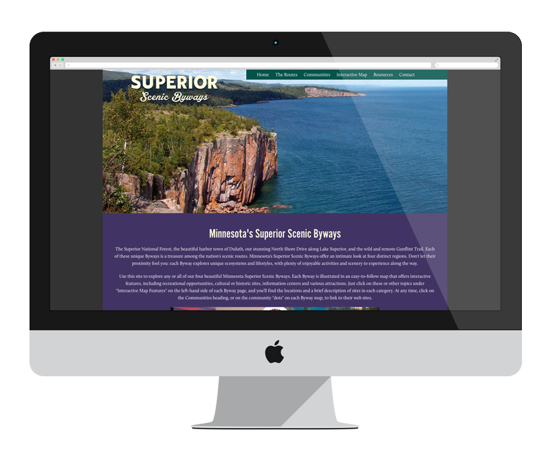 Superor Byways: Minnesota web design and development - tourism