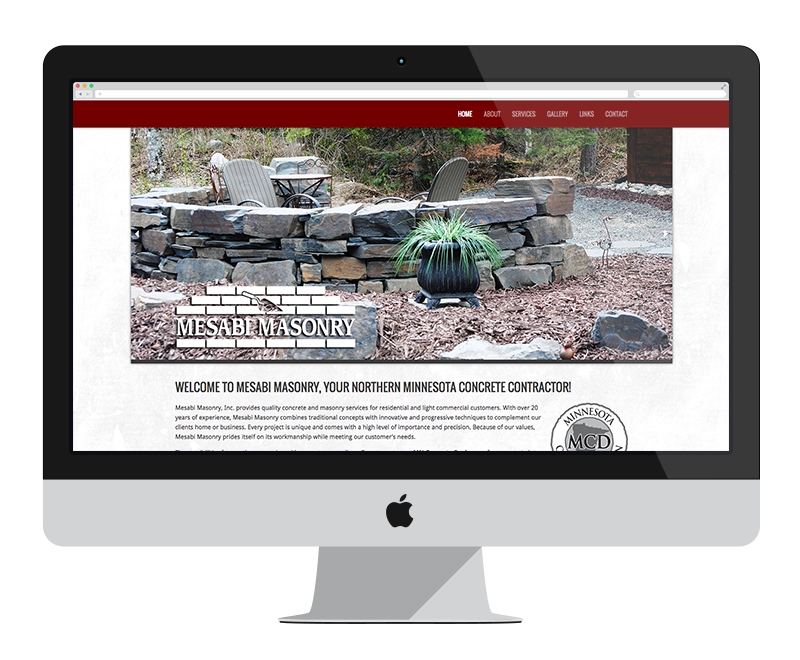 Mesabi Masonry: Minnesota web design and development - construction