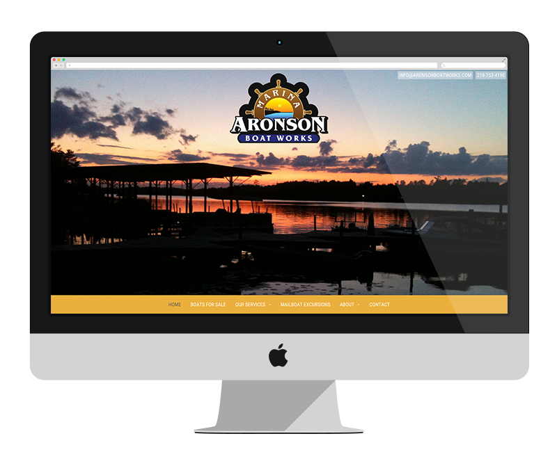 Aronson Boat Works: Minnesota web design and development - tourism
