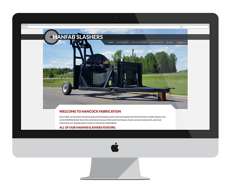 Hanfab Slasher: Minnesota web design and development - manufacturing