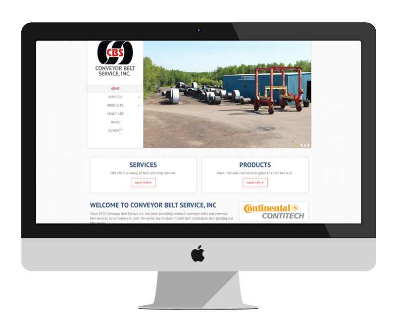 Conveyor Belt Services: Minnesota web design and development - mining