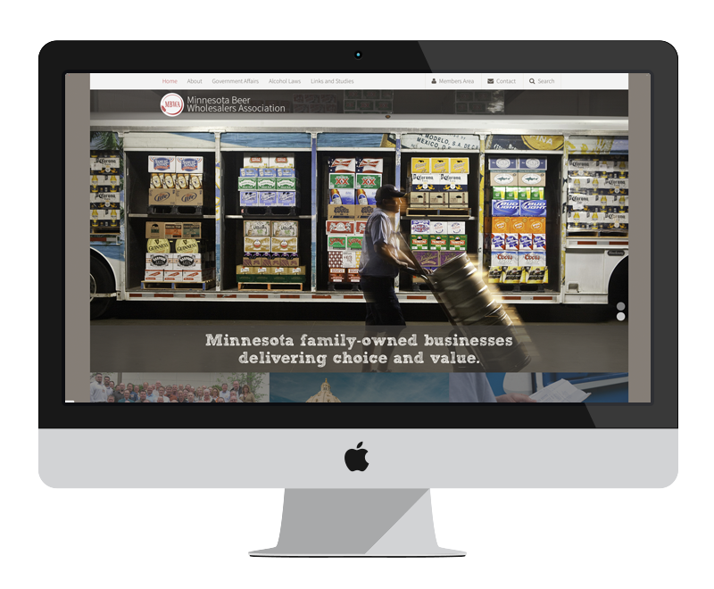 Minnesota Beer Wholesalers Association: Minnesota web design and development - professional services