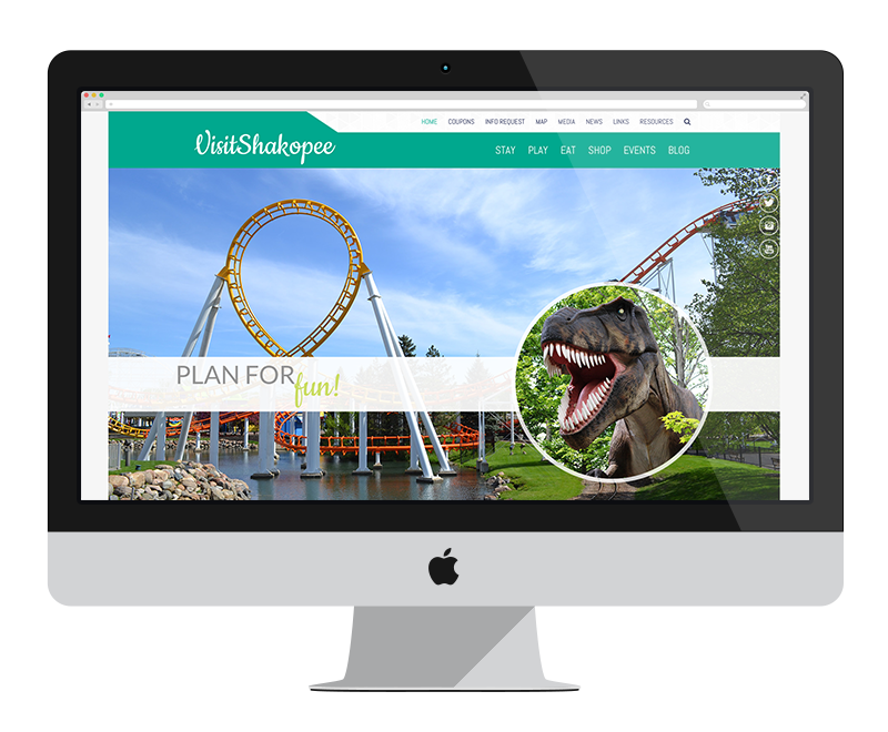 Visit Shakopee: Minnesota web design and development - tourism